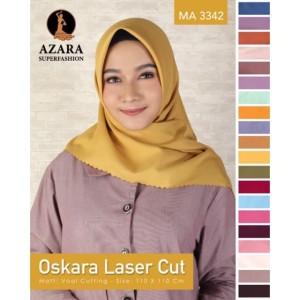 Harga azara hijab segi empat oskara lasercut jilbab polos kerudung | HARGALOKA.COM