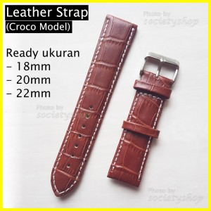 Harga genuine leather croco kulit tali jam strap watch 18mm 20mm 22mm dw 20   | HARGALOKA.COM