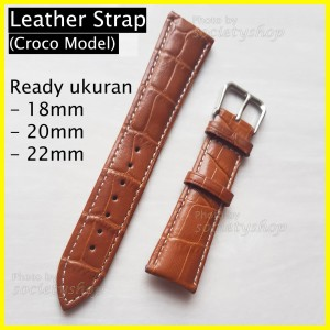 Harga genuine leather croco kulit tali jam strap watch 18mm 20mm 22mm dw 22   | HARGALOKA.COM
