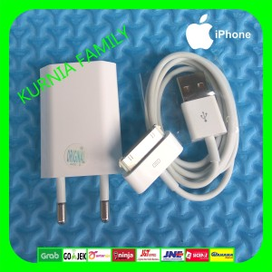 Harga charger iphone 4 4s 4g 3gs ipad 1 2 3 ipod itoch apple | HARGALOKA.COM