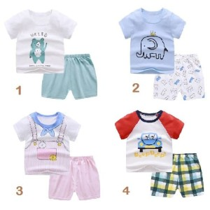 Harga 6bln 3 tahun babyfb set baju dan celana summer bahan katun part 2   motif 4   HARGALOKA.COM