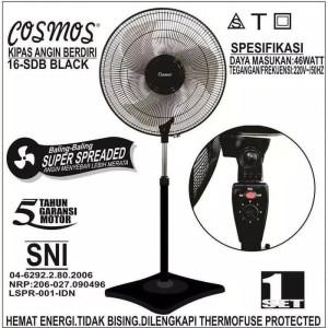 Harga cosmos stand fan 16 sdb kipas angin berdiri 16 inch 16sdb   | HARGALOKA.COM