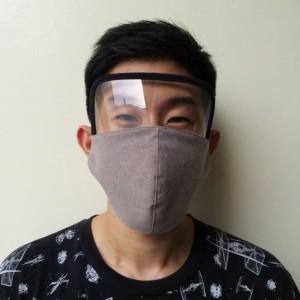 Harga masker kain 3 ply face shield pelindung muka wajah mata katun | HARGALOKA.COM