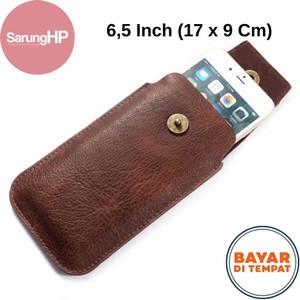Harga sarung dompet tas tempat hp celup kulit kancing magnet 6   6 5 inch   17 x 9 cm | HARGALOKA.COM