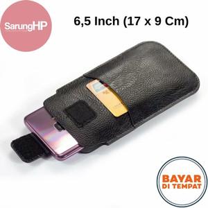 Harga sarung dompet tas tempat hp celup kulit tanpa magnet 6   6 5 inch   17 x 9 cm | HARGALOKA.COM