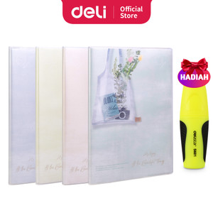 Harga deli notebook b5 96 lembar dengan pinggiran plastik t1696   | HARGALOKA.COM