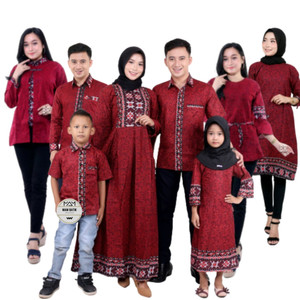 Harga baju batik couple sarimbit keluarga ayah ibu dan anak termurah   hem anak | HARGALOKA.COM