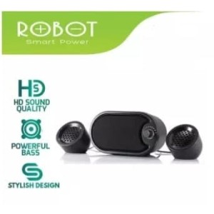 Harga speaker stereo full bass robot rs170 support komputer | HARGALOKA.COM