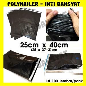 Harga polymailer hitam 25x40 isi  100lbr plastik kemasan online shop | HARGALOKA.COM