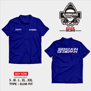Harga polo shirt kaos polo yamaha semakin di depan logo kaos otomotif   | HARGALOKA.COM