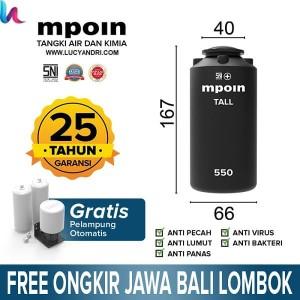 Info Tangki Air Mpoin Plus 600 Liter Tall Toren Air Tandon Air Katalog.or.id