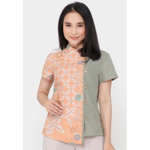 Harga blouse batik salem alsava   toska | HARGALOKA.COM