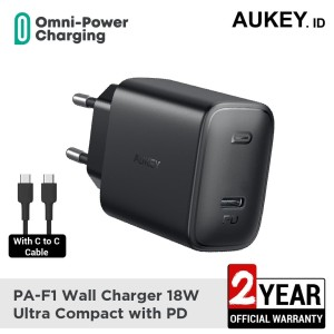 Harga aukey charger pa f1 18w ultra compact with pd   | HARGALOKA.COM