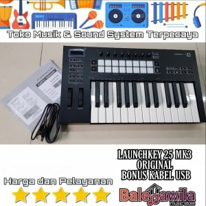 Harga novation launchkey 25 mk3 new keyboard midi controller ori | HARGALOKA.COM