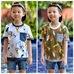 Harga ton kids tshirt usia 4 6 8 th 625   4 5 tahun hijau | HARGALOKA.COM