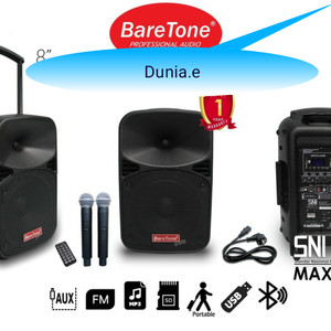 Harga speaker portable amplifier wirelless baretone max8eb  8inci | HARGALOKA.COM