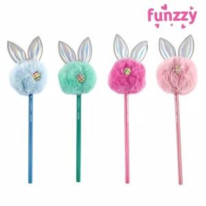 Harga funzzy rabbit pencil pensil kelinci lucu unik berbulu halus   light | HARGALOKA.COM