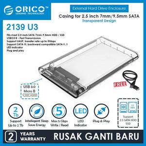 Harga promo orico 2139u3 casing hardisk transparan 2 5 usb 3 0 | HARGALOKA.COM