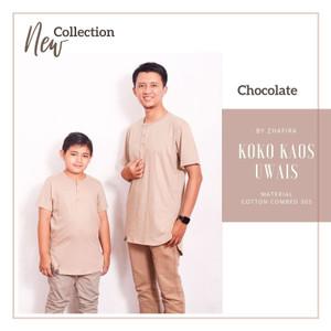 Harga koko kaos uwais a03 baju muslim koko kaos kurta couple ayah dan anak   grey   HARGALOKA.COM