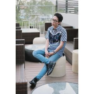 Harga kemeja batik pria lengan pendek regular fit nishikigoi     HARGALOKA.COM