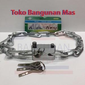 Harga gembok rantai 90 cm chain lock 90 cm gembok sepeda gembok   HARGALOKA.COM