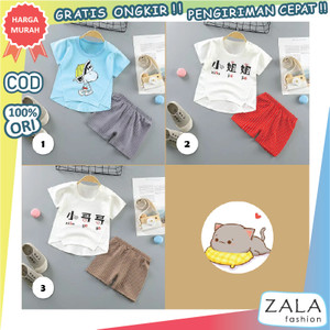Harga zf92 baju anak bayi setelan pendek 6   12 bulan import 1   3 korea | HARGALOKA.COM