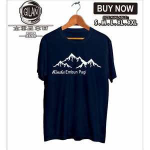 Harga kaos baju rindu embun pagi pendaki gunung hiking outdoor | HARGALOKA.COM