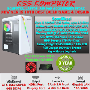 Harga baru komputer pc rakitan i5 terbaru cometlake with vga siap nge   HARGALOKA.COM