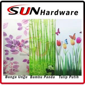 Harga fiber pagar plastik penutup panda bambu tulip bunga ungu per   HARGALOKA.COM
