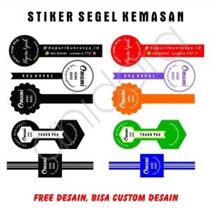 Harga cetak stiker label makanan minuman segel botol free | HARGALOKA.COM
