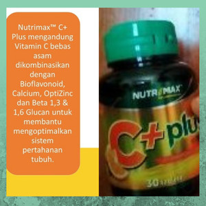 Harga nutrimax c plus vitamin untuk meningkatkan daya tahan tubuh | HARGALOKA.COM