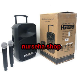Harga speaker aktif speaker portable hardwell 8 inch max8eb bluetoot | HARGALOKA.COM