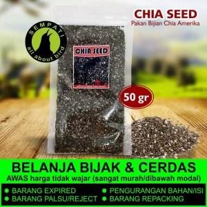 Harga organic black chia seed import biji chia chiaseed pakan burung | HARGALOKA.COM