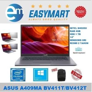Harga laptop asus a409ma bv411t bv412t n4020 4gb 1tb backlight 14 34 win10   bv411t | HARGALOKA.COM