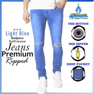 Harga gammaprod light blue slimfit celana jeans pria premium ripped   light blue 27 28   HARGALOKA.COM