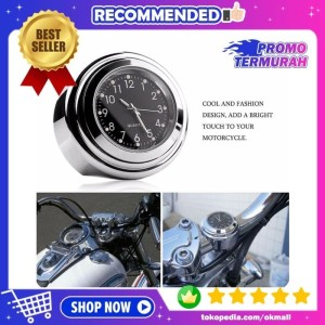 Harga jam motor analog keren untuk stang handlebar motor motorcycle   HARGALOKA.COM
