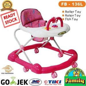 Harga family babywalker 136l alat bantu jalan bayi   merah | HARGALOKA.COM