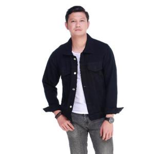 Harga emoline jaket jeans pria nakama   hitam | HARGALOKA.COM