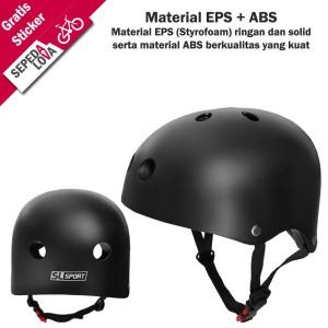 Harga helm sepeda batok sl sport bmx skateboard dewasa dan anak   | HARGALOKA.COM