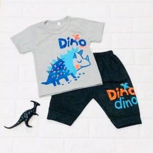 Harga 6 bln   5 thn setelan baju anak laki laki motif dino dino landak   | HARGALOKA.COM