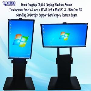 Harga paket digital display touchscreen 43 inch windows no include tv | HARGALOKA.COM