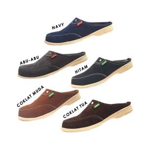 Harga sepatu sandal selop pria slop bustong kickers fs 02   hitam | HARGALOKA.COM