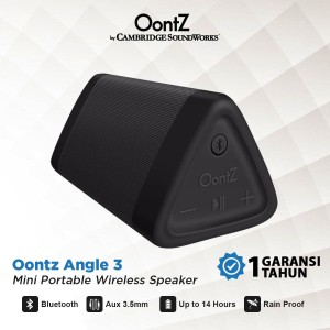 Harga oontz angle 3 cambridge soundworks bluetooth speaker   hitam   | HARGALOKA.COM