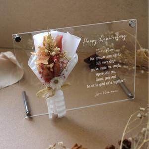 Harga custom acrylic greeting card gift anniversary gift graduation   HARGALOKA.COM