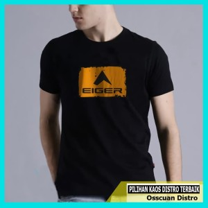 Harga baju kaos distro fashion pria lengan pendek eiger   | HARGALOKA.COM
