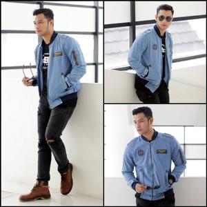 Harga jaket jeans pria jaket bomber jeans pria   bioblit   HARGALOKA.COM