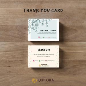 Harga cetak thank you card online shop custom murah free box   1 | HARGALOKA.COM