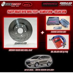 Harga paketan brake disk brake pad selang rem hel merah innova | HARGALOKA.COM