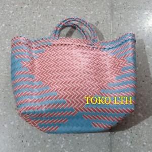 Harga tas anyaman plastik besar tas pasar kantong belanja | HARGALOKA.COM