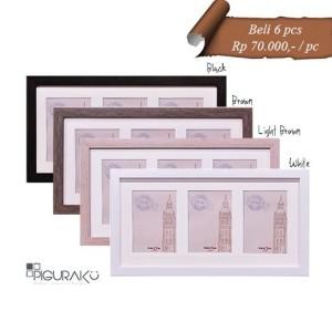 Harga pigura bingkai foto minimalis   4r x 3 pcs plus matboard   | HARGALOKA.COM